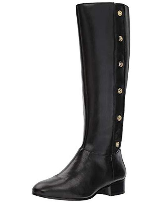 8a3ec47b9b9a Lyst - Nine West Oreyan Knee High Boot in Black - Save ...