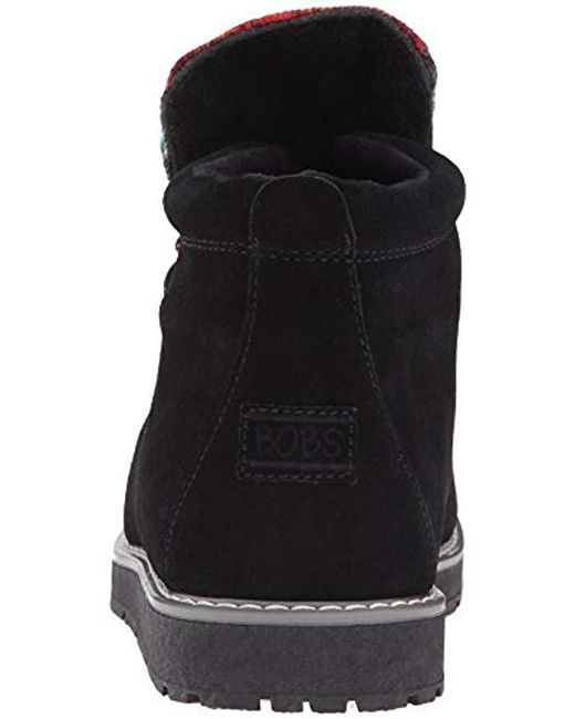 972c5897b98f Lyst - Skechers Bobs Bobs Alpine-s mores Ankle Bootie in Black ...