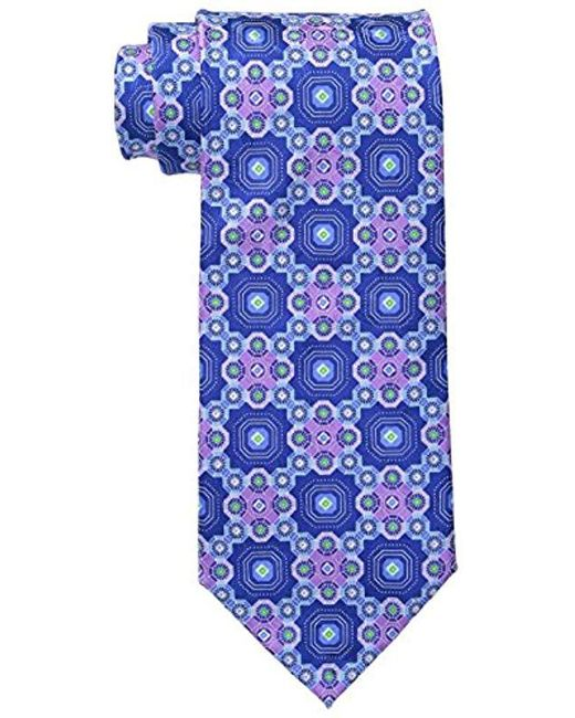 Geoffrey Beene - Blue Big-tall At All Hours Neat Tie for Men - Lyst