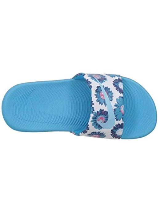 4cb9c888f1a748 ... Nike - Blue Kawa Slide Sandal - Lyst ...