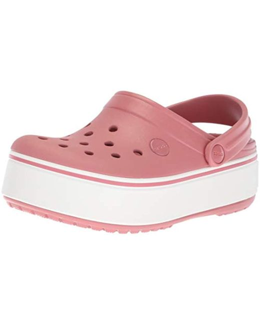 Crocs™ - Pink Crocband Platform Clog - Lyst