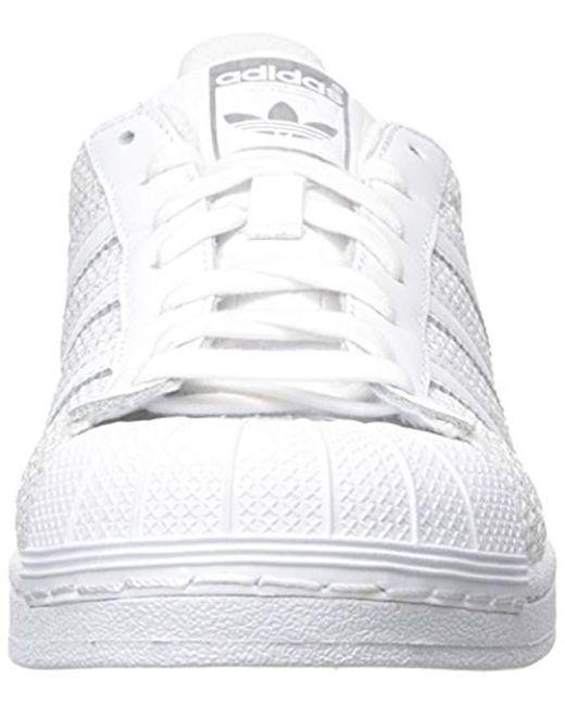 pretty nice 57597 9670f ... Adidas Originals - Superstar Running Shoe White, 11 M Us for Men - Lyst  ...