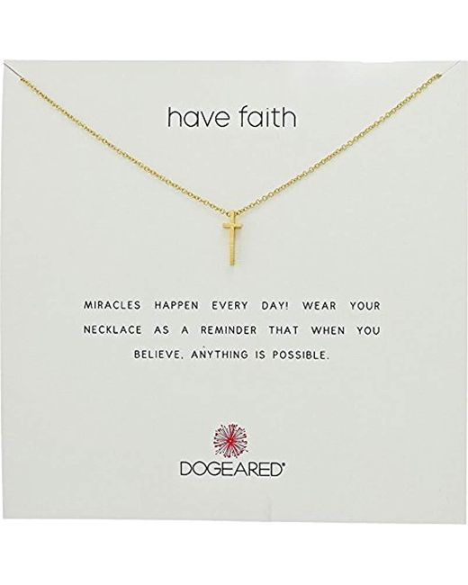 Dogeared - Metallic Reminder Have Faith, Long Cross Chain Necklace - Lyst
