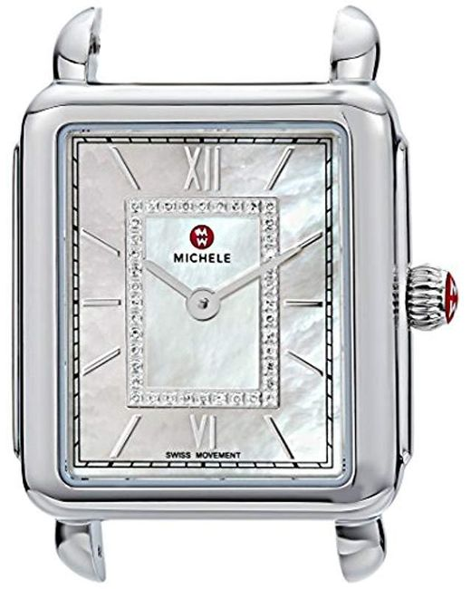 Michele - Multicolor 'deco Watch Head' Swiss Quartz Stainless Steel Casual, Color:white (model: Mw06i00a0963) - Lyst