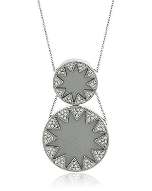 House of Harlow 1960 - Gray S Double Sunburst Necklace - Lyst