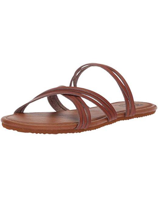 Billabong - Brown Sandy Toes Flat Sandal - Lyst