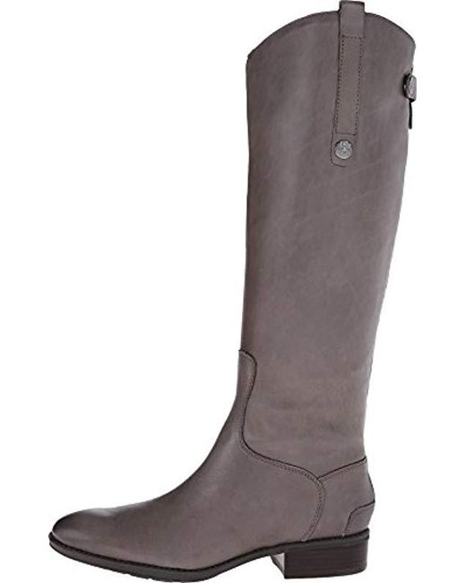 a5ff8ee4b64257 Lyst - Sam Edelman Penny Riding Boot in Gray - Save 32.214765100671144%