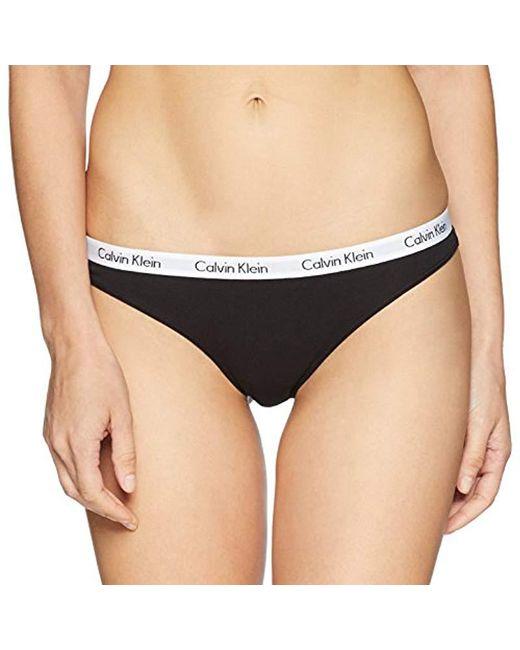 Calvin Klein - Black Logo Cotton Bikini Panty - Lyst