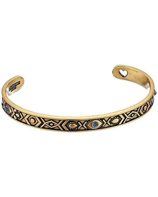 ALEX AND ANI - Metallic S Evil Eye Cuff Bracelet - Lyst