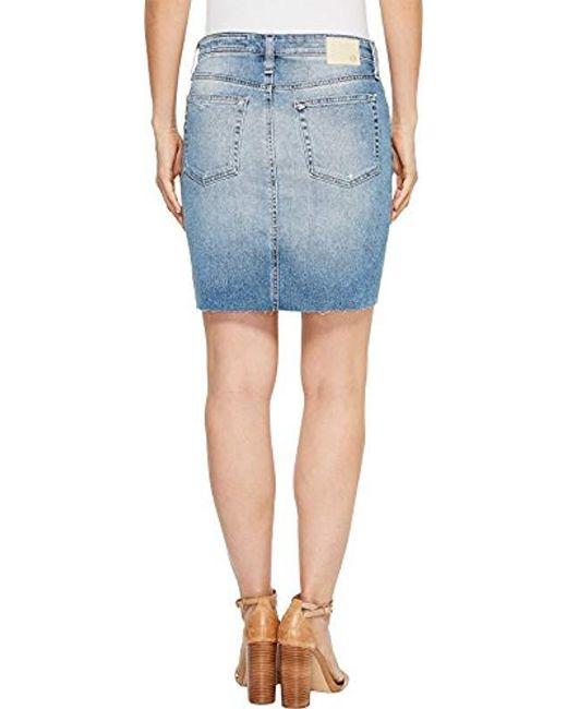 f71ccd5891b ... AG Jeans - Blue Denim Erin Pencil Skirt - Lyst