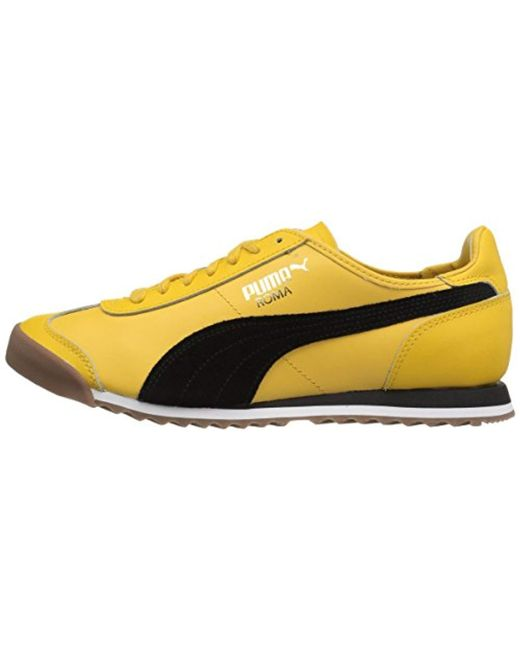Lyst - PUMA Roma Og 80s Fashion Sneaker in Yellow for Men - Save 28% a6bc9df03