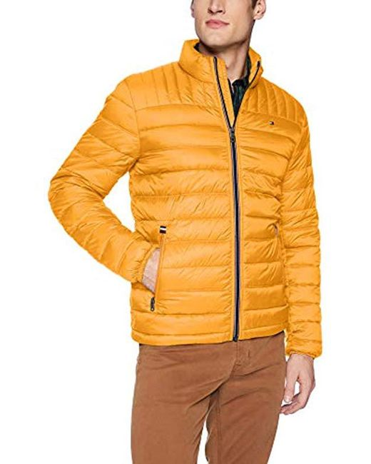 Lyst Tommy Hilfiger Ultra Loft Packable Puffer Jacket In Yellow