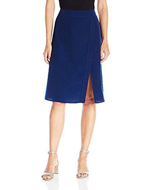 PARIS SUNDAY - Blue Front Slit Skirt - Lyst