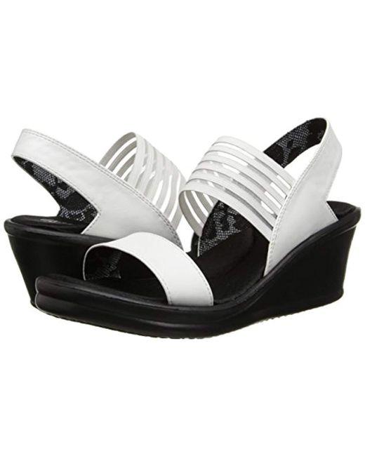 80e84ba35b0276 Lyst - Skechers Cali Rumbler Sci-fi Wedge Sandal in White - Save 5%