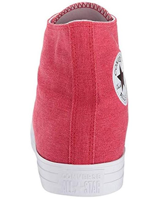 cc0bca195ab7 ... Converse - Red Unisex Chuck Taylor All Star Washed High Top Sneaker -  Lyst ...