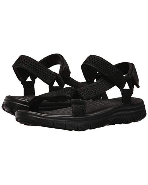 c62b7834a5cb ... Skechers - Black Sport Flex Advantage S Fisherman Sandal