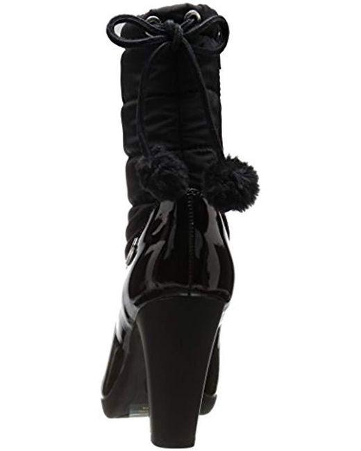 c13e4a5ab2 ... Anne Klein - Black Xhale Fabric Winter Boot - Lyst ...