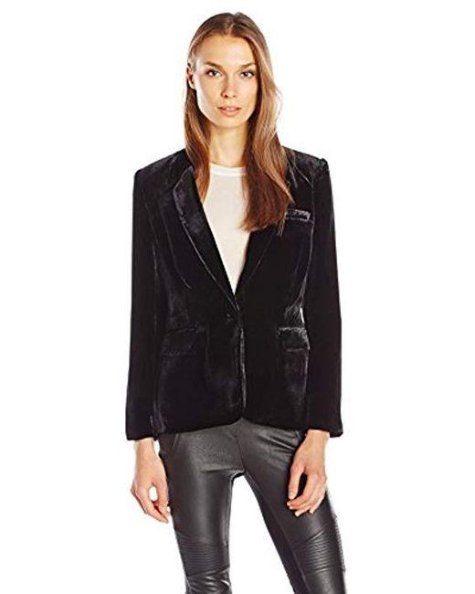 Joie - Black Mehira Velvet Jacket - Lyst