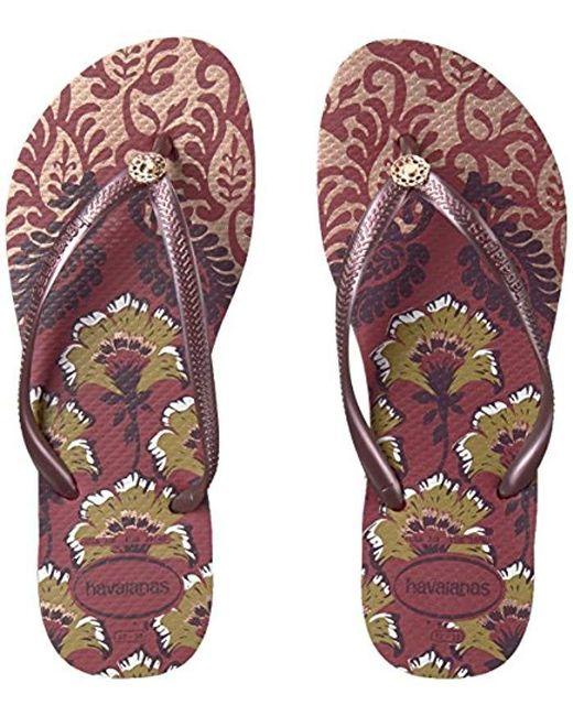 9723b4248131 ... Havaianas - Purple Slim Flip Flop Sandals