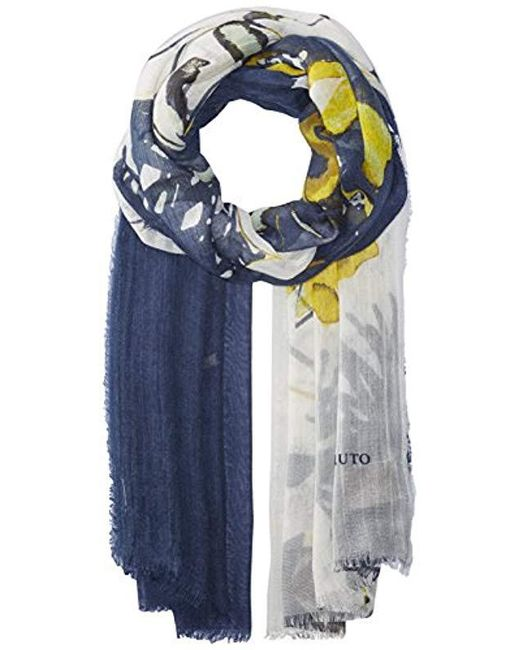 Vince Camuto - Blue Anemone Flower Tissue Wrap - Lyst