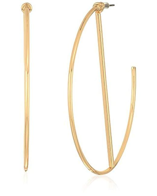 Guess - Metallic S Hoop Earrings With Stick - Lyst