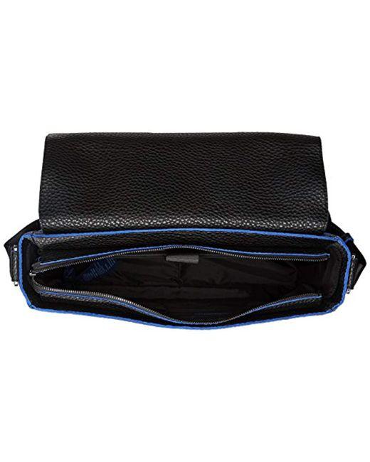 ... Armani Exchange - Black Rmni Exchnge Tumbled Pu Crossbody With Coloured  Trim for Men - Lyst ... 81d1dc1b036