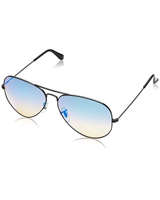 Ray-Ban - Multicolor 3025 Aviator Large Metal Mirrored Non-polarized Sunglasses - Lyst