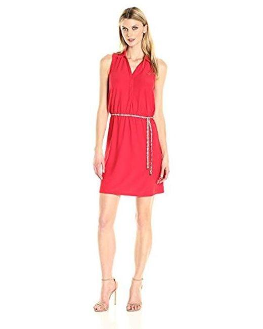 G.H.BASS - Red Crepe Jersey Dress - Lyst
