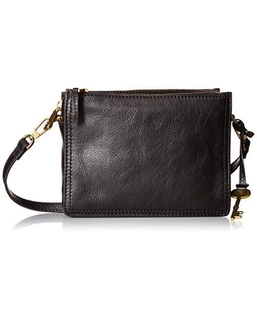 Fossil - Black Campbell Crossbody Bag - Lyst