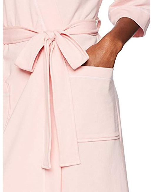 6d0aa7cffc ... Mae - Pink French Terry Kimono Knee-length Robe - Lyst ...