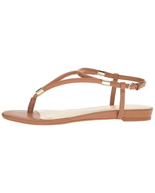 fda31ffc6caff3 Lyst - Nine West Rivers Synthetic Dress Sandal in Natural - Save ...