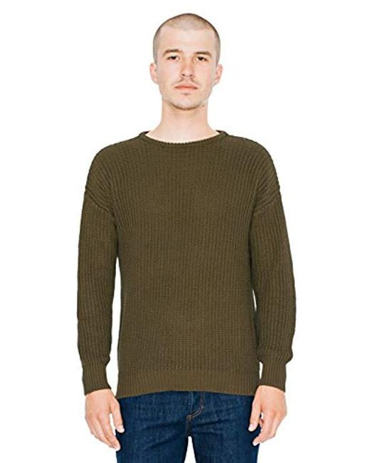 American Apparel - Green Fisherman's Pullover Sweater for Men - Lyst
