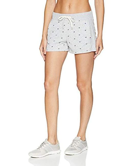 Champion - Gray Heritage French Terry Short - Lyst