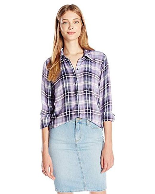 Lucky Brand - Purple Bungalow Plaid Shirt - Lyst