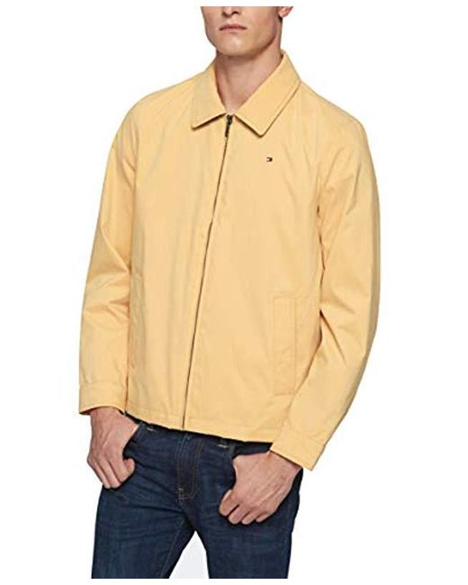 9b950671 ... Tommy Hilfiger - Yellow Lightweight Microtwill Golf Jacket for Men -  Lyst ...
