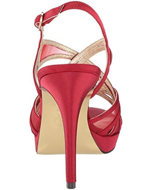 3de9ce22ec4 Lyst - Adrianna Papell Adri Heeled Sandal in Red - Save 9%