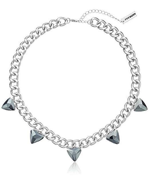 Steve Madden - Metallic Steve Madded Simple Spike Chain Necklace - Lyst