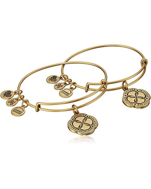 ALEX AND ANI - Metallic Mom And Daughter Infinite Connection Set Of Two Bangle Bracelet - Lyst