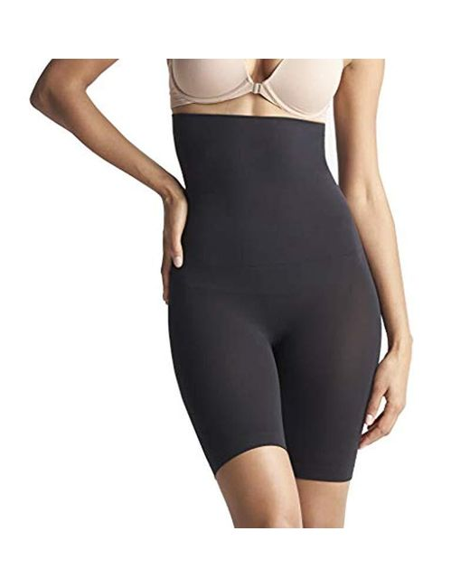 160e4ee843a07 Yummie - Black Cooling Fx High Waist Thigh Shaper Shapewear - Lyst ...