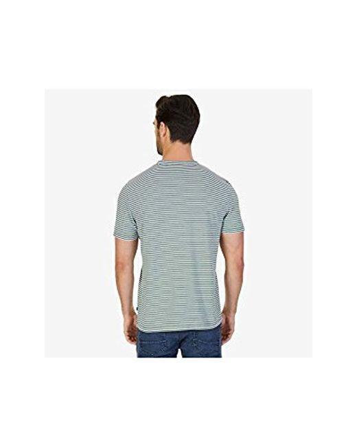 9dc4d9cff0 ... Nautica - Multicolor Short Sleeve Slim Fit Striped Crew Neck T-shirt  for Men ...