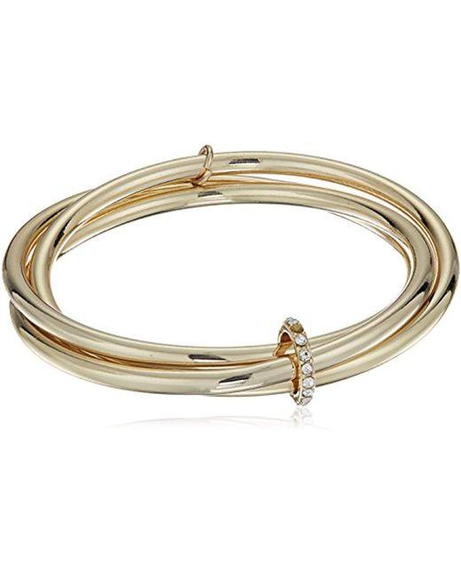 Kenneth Cole - Metallic Kenneth Cole New Trinity Rings Bangle Bracelet - Lyst
