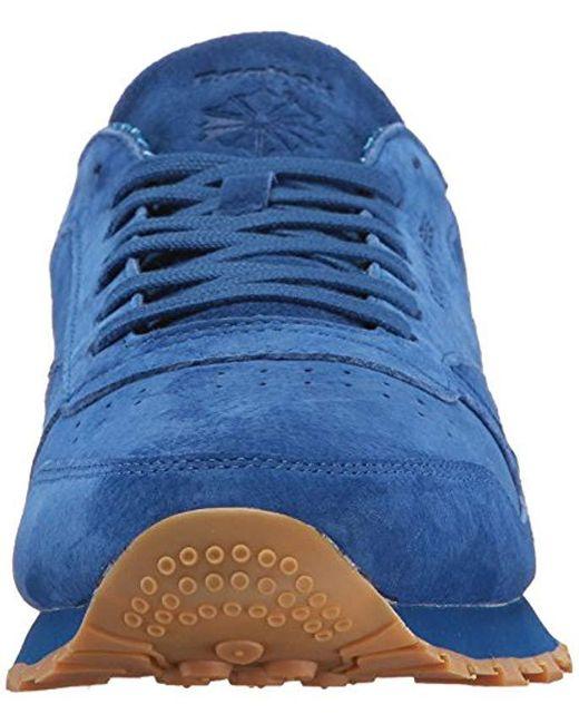 ... Reebok - Blue Classic Leather Tdc Fashion Sneaker for Men - Lyst ... d6c912d79