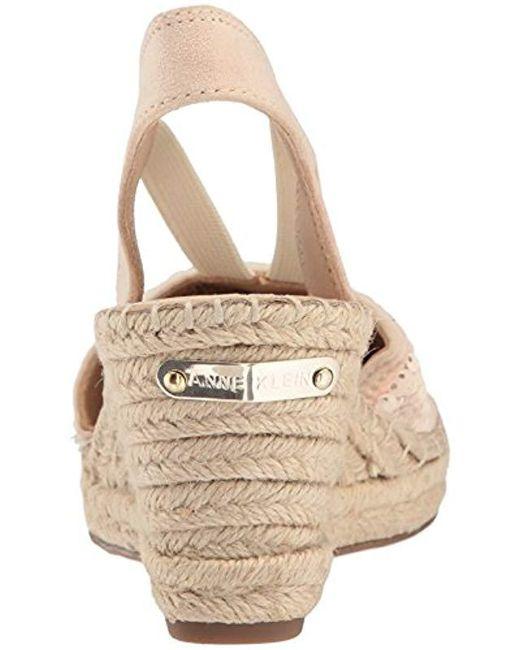 a2243f8e8baf ... Anne Klein - Multicolor Abbey Fabric Espadrille Wedge Sandal - Lyst ...