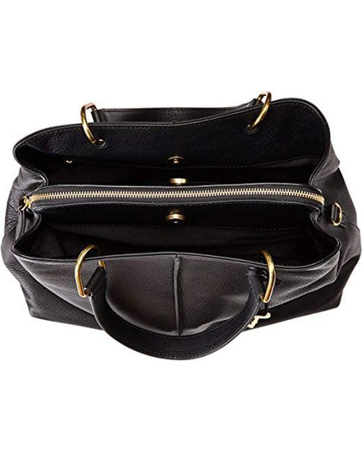 b277e7491427 Lyst - Fossil Lane Satchel Handbag in Black - Save 8%