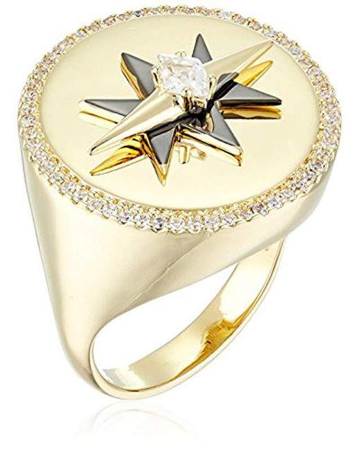 Noir Jewelry - Metallic Celestial Ring - Lyst