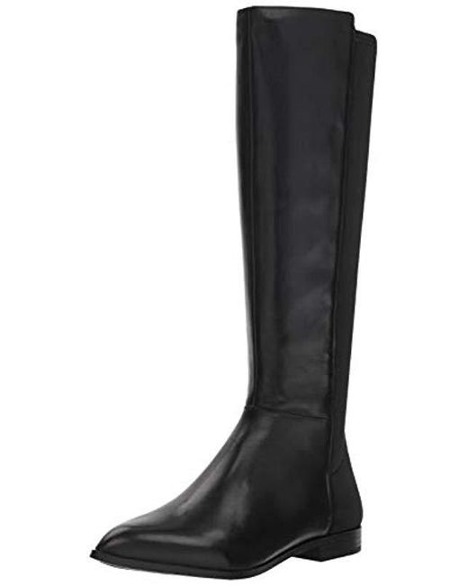 45d37bb33796 Lyst - Nine West Owenford Leather Knee High Boot in Black - Save 55%