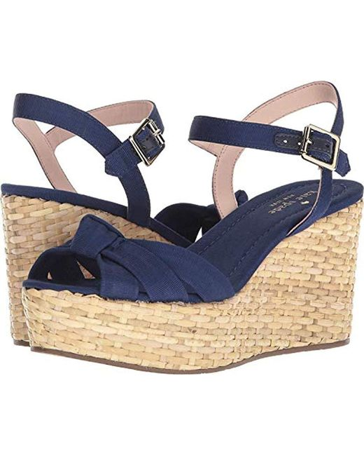 2815773420e8 Lyst - Kate Spade Tilly Wedge Sandal in Blue - Save 64%