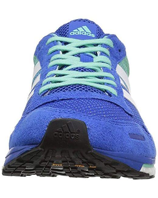 purchase cheap 70fc1 08365 ... Adidas - Blue Performance Adizero Adios M Running Shoe for Men - Lyst  ...