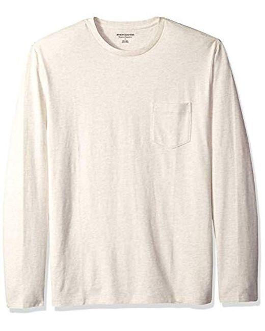 dd238f457fd4 Amazon Essentials - Multicolor Regular-fit Long-sleeve Pocket T-shirt for  Men ...