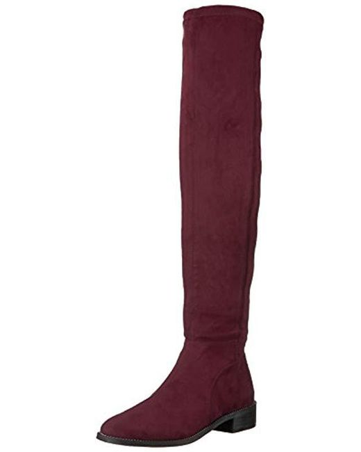 52b7bcd1ba2 Lyst - Franco Sarto Bailey Over The Knee Boot in Purple - Save 46%